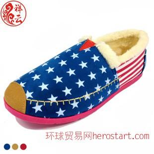 新款冬季时尚保暖平跟平底老北京布鞋女鞋 玛丽鞋
