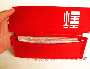 婚庆 新年 环保毛毡红包 利是封 礼品红包定做 添加LOGO