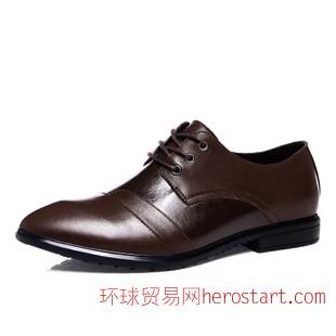 雕花布洛克商务休闲鞋真皮耐磨皮鞋男鞋尖头时尚潮鞋