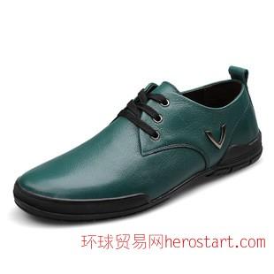 2014初冬新款男士休闲男鞋时尚手工百搭男皮鞋批发真皮鞋子