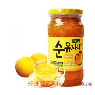 韩国进口KJ国际蜂蜜柚子茶560g 破损包赔(带泡沫)