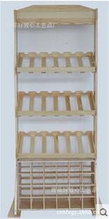 创意酒架实木欧式酒架木制红酒酒架木制白酒简易松木桐木酒架置地