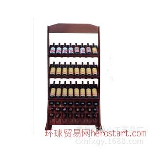 创意木质酒架红酒葡萄酒白酒架木质原木色松木桐木定做批发酒架