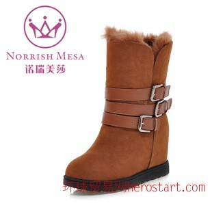 2014冬季新款雪地靴女款加厚保暖内增高靴子高低筒两穿
