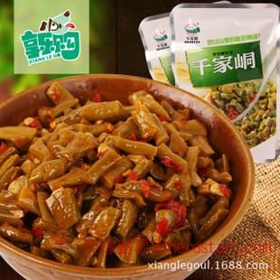 湖南永州 千家峒2.5kg 老坛干酸豆角开胃泡菜 散装批发