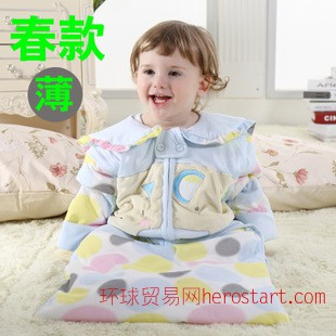 玲珑天使春秋款宝宝睡袋婴儿睡袋春季薄款宝宝睡袋防踢被抱被