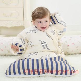 2014新款 艾优巧 脱胆 婴儿睡袋秋冬款 儿童冬季加厚宝宝防踢被