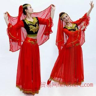 新款新疆印度舞蹈演出服裝民族舞臺 肚皮舞印度舞蹈演出服裝成人