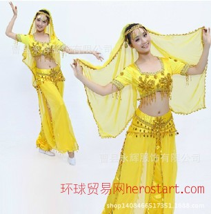肚皮舞演出服 印度舞舞蹈服装 新疆民族舞台演出服饰