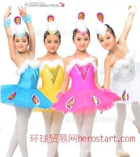 儿童芭蕾舞裙 儿童天鹅芭蕾舞蹈服装新款 少儿孔雀舞蹈表演舞台服