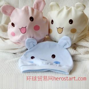 逗逗猴婴儿用品 新生儿胎帽 婴幼儿纯棉造型帽 宝宝帽子 儿童帽子