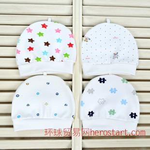 2014款婴儿帽 胎帽 全棉宝宝儿童针织瓜皮帽 新生儿帽子