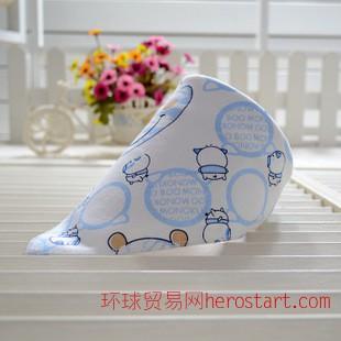 母嬰批發 嬰兒三角巾 寶寶男女三角口水巾 兒童加厚圍巾圍嘴純棉