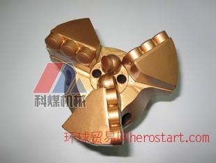 153三翼金刚石复合片钻头,三翼不取芯pdc钻头
