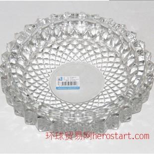 大号圆形水晶玻璃烟灰缸 9.9元店10元店货源 日用家居百货配