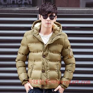 2014新款男式棉衣休闲时尚保暖男士羽绒棉服男装外套