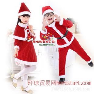 圣诞服装男女童圣诞演出服儿童圣诞服饰圣诞节表演服圣诞老人套装