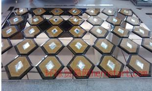 品质大牌外贸标准热销艺术玻璃拼镜电视背景墙精装爆款