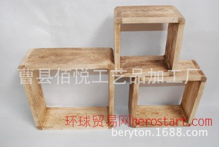 宜家家居zakka时尚创意卧室储物架 现货销售木质墙上置物架