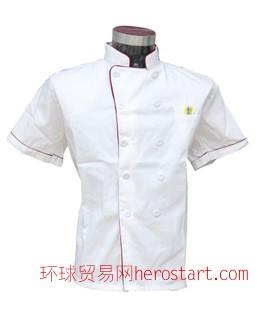 酒店厨师服工作服装 春秋装短袖餐馆饭店厨房厨衣服工装制服