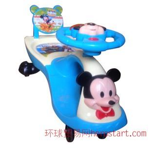 新款米奇婴幼儿童摇摆扭扭滑动自行车
