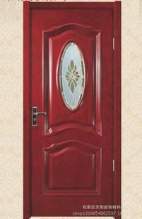 室内烤漆木门、实木复合门、工程门卫生间玻璃门AM-027