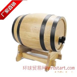 橡木桶法国橡木酒桶原木色无胆马拉车酒桶 定做批发