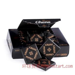 情人礼物 韩国乐天加纳纯黑巧克力/红加纳 一盒18块*24盒/箱