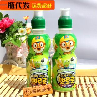 韩国儿童饮料食品批发 宝露露苹果味酸菌  235ml*24瓶
