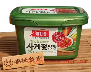 韩国好餐得包饭酱 烤五花肉酱 盒装500克  一箱20盒