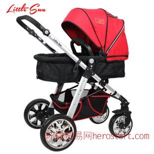 小太阳婴儿车 可坐躺冬夏减震折叠婴儿车高景观手推车宝宝童车
