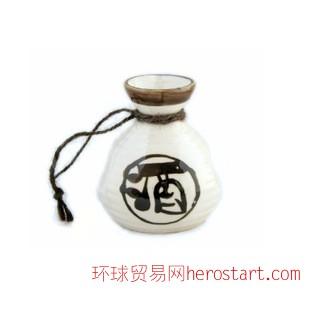 手绘 日式清酒温酒具陶瓷套装  酒壶