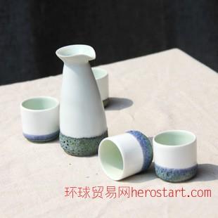 景德镇热卖 特色酒具套装 典雅型陶瓷酒杯定制