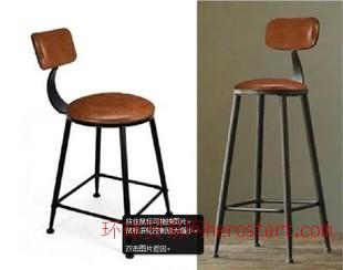 宜家家具鐵藝軟皮沙發椅複古咖啡桌椅實木做舊升降吧台椅酒吧桌椅