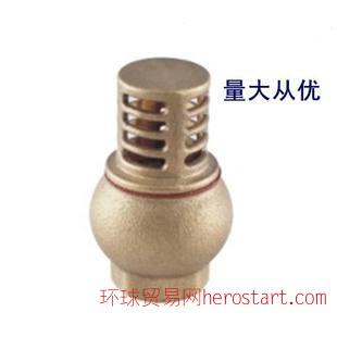 全铜耐用球式底阀 手动可调节水泵单向逆止阀