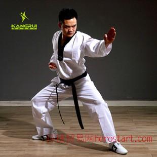 武圣WOOSUNG兒童夏季半袖跆拳道服送白色腰帶