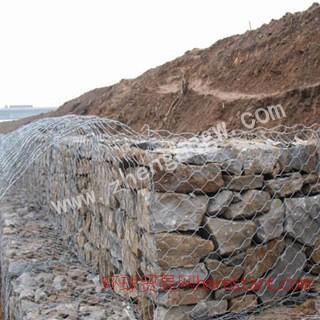 石笼网厂家 包塑石笼网 河提防护网 山体边坡