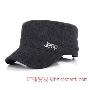 2014新款男士帽秋冬天毛呢保暖平顶帽 时尚薄款呢子帽