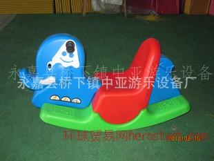大象摇马 幼儿园塑料木马摇摇乐 三色塑料动物单人摇马