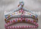 供给彩色小圆珠亚克力有机玻璃衣架 单杠式带夹子 可加工定制