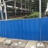 广西路边临时施工半网活动彩钢板围挡