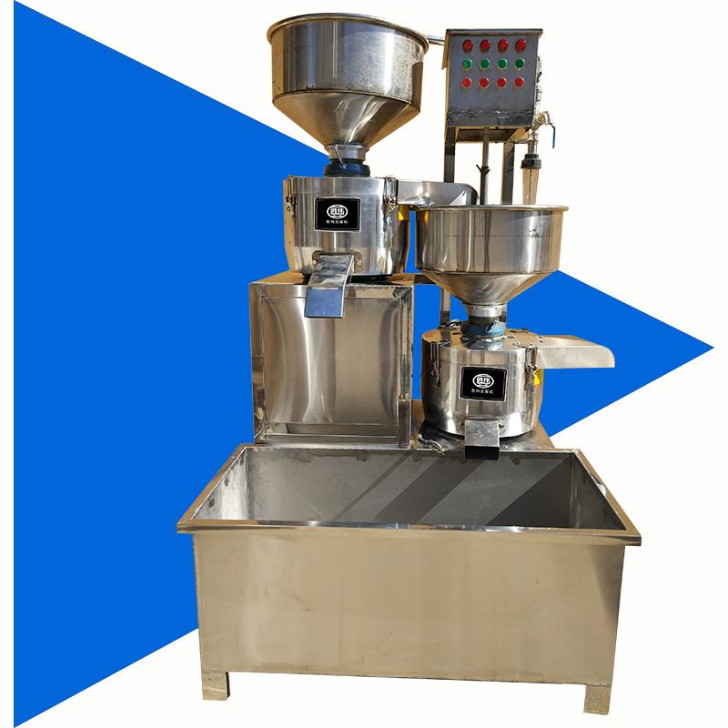 仿手工全自动不锈钢二连磨三连磨搭配千张机豆皮机 胜伟豆腐机