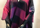 外貿圍巾拉絨披肩色織格子圍巾秋冬新款