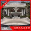 埃及米黄花钵 大理石水景喷泉 欧式石雕喷泉雕塑
