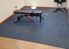 智广健身房橡胶地垫力量区减震垫家用拼接隔音地板杠哑铃防震地胶