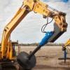 工地打桩机 螺旋钻杆打桩机直径挖掘机液压螺旋钻机 螺旋地钻