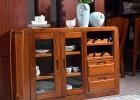 实木餐边柜 实木胡桃木碗柜中式现代储物柜双门9501 餐边柜