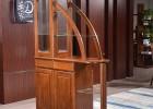 实木酒柜客厅家具间厅柜胡桃木隔断 储物柜 餐边柜9605#