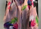围巾工厂-外贸涤纶花朵印花围巾