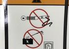 供应防水PVC起重机警告标签户外耐晒机械贴花